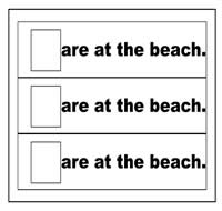 """Are at the Beach"" Flip Strips"