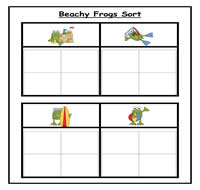 Beachy Frogs Sorting Task