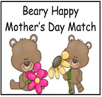 Beary Happy Mother's Day File Folder Game