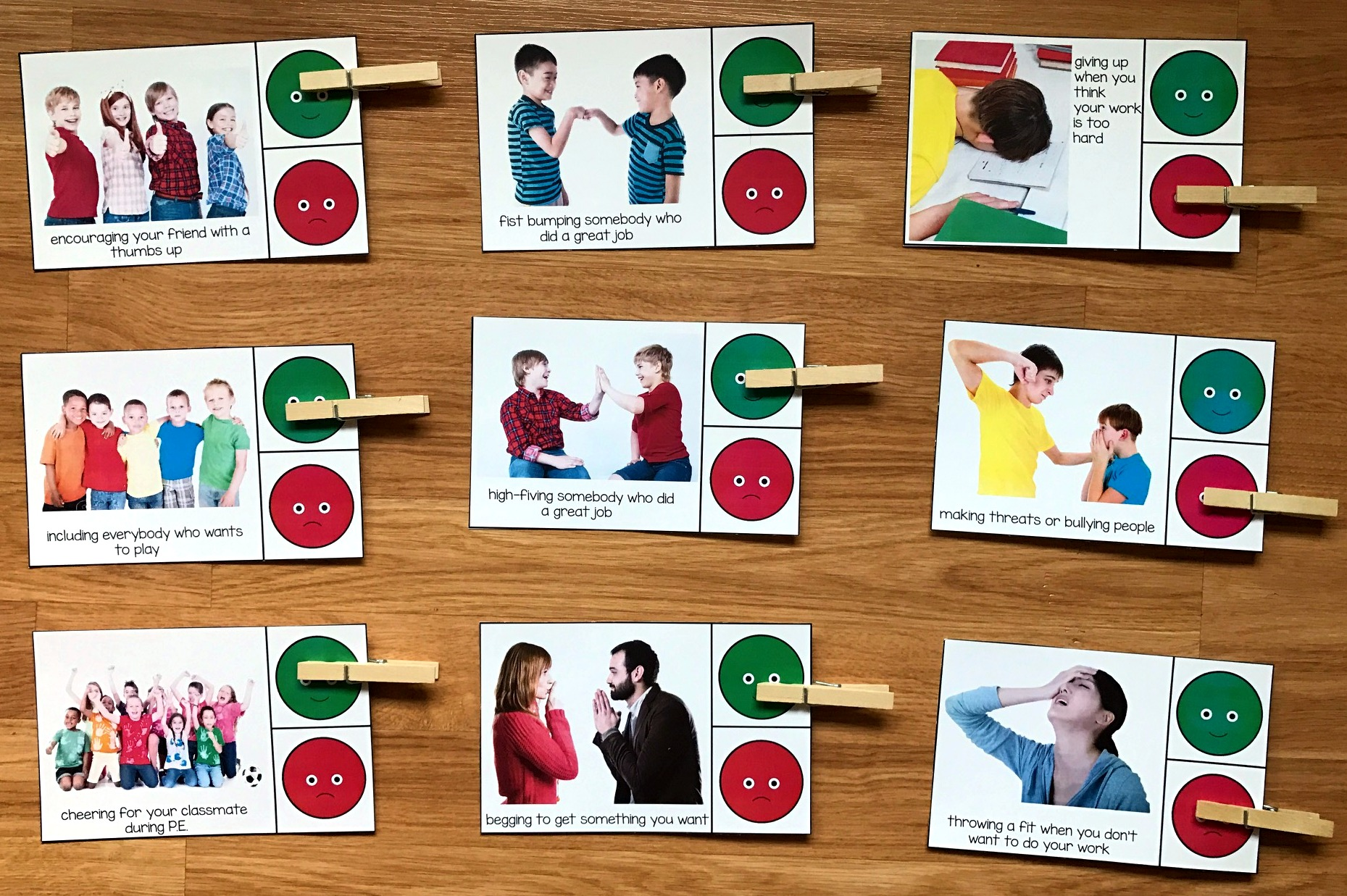 Behavior Task Cards (w/Real Photos)