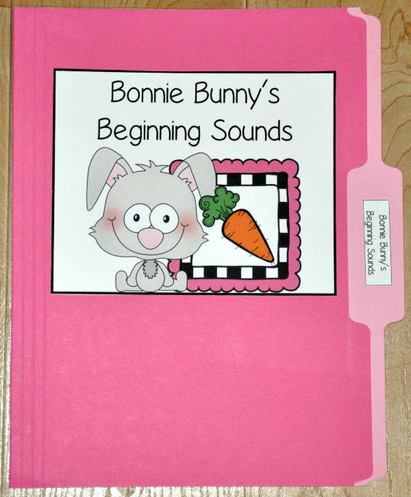 Bonnie Bunny's Beginning Sounds File Folder Games