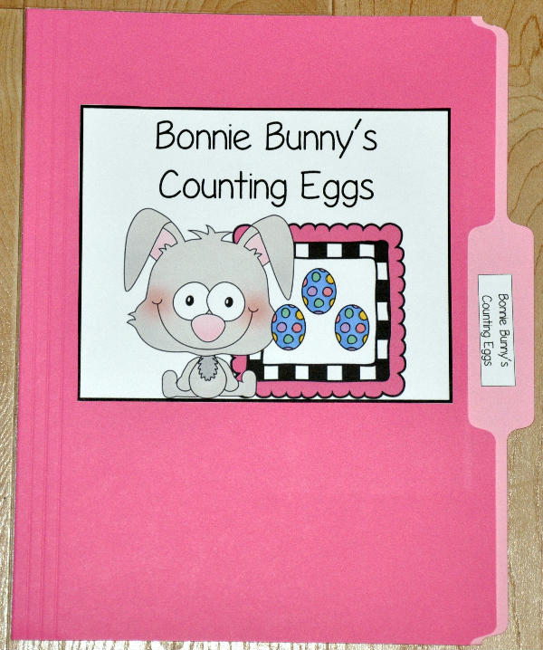 Bonnie Bunny's Counting Eggs File Folder Game