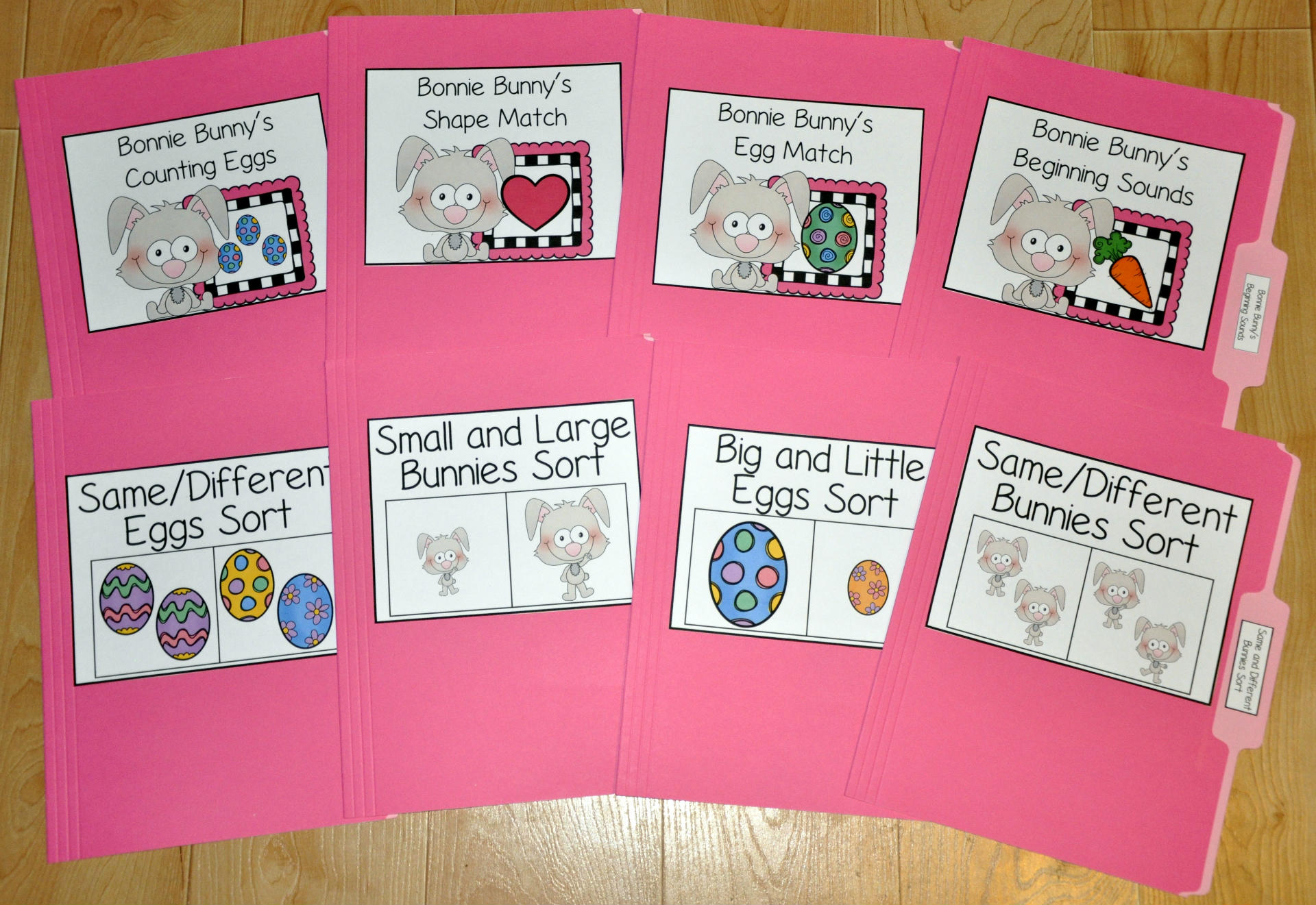 Easter Bunny and Eggs File Folder Games Mini-Bundle