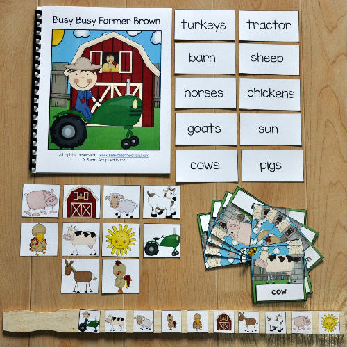 Busy, Busy, Farmer Brown Adapted Book and Vocab Activities