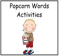 Popcorn Words Activities