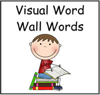 Visual Word Wall Words