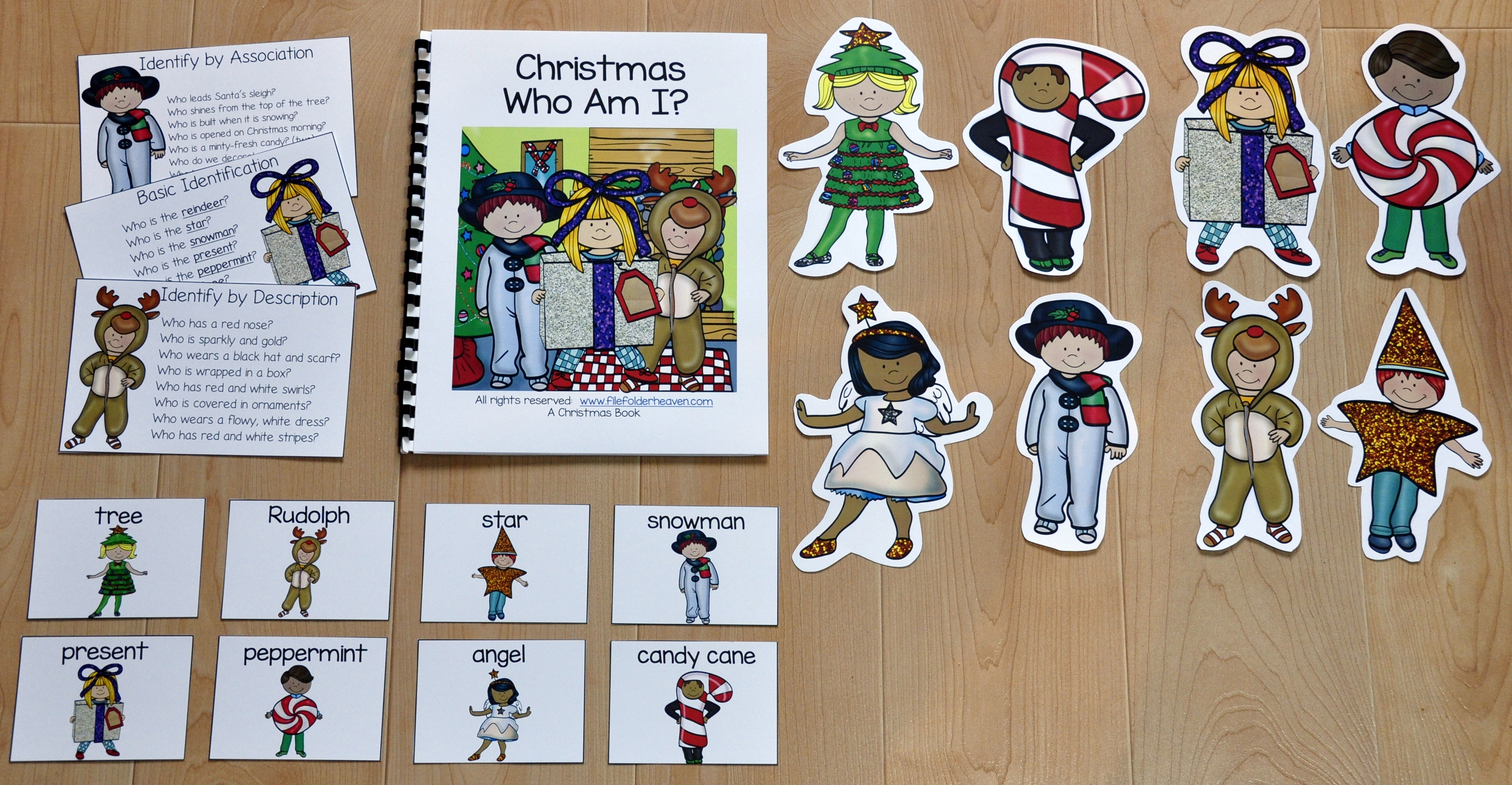 "Christmas ""Who Am I?"" Adapted Book"