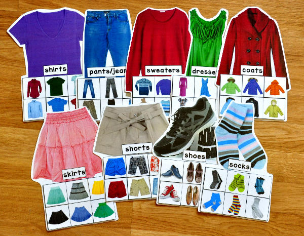 Clothing Sorting Mats (w/Real Photos)