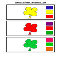 Colorful Clovers Clothespin Task