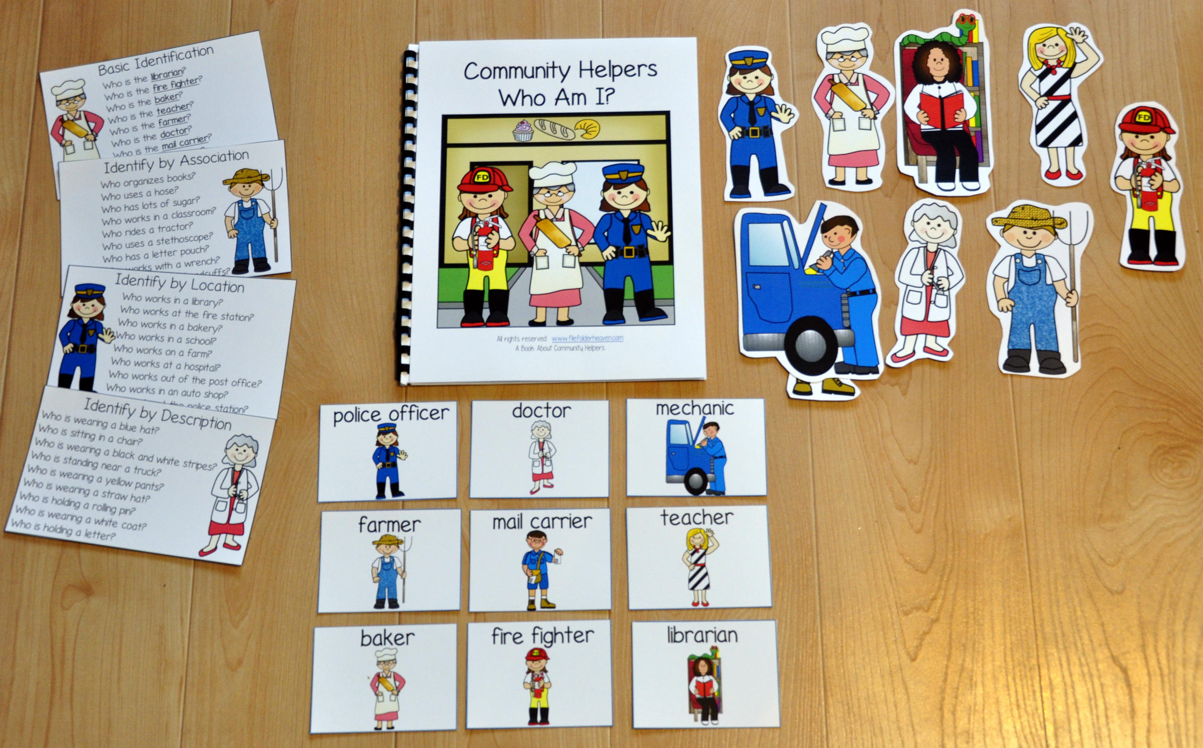Community Helpers, Who Am I Adapted Book