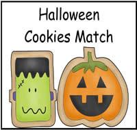 halloween cookies match file folder game - Halloween File Folder Games