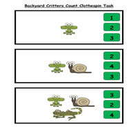 Counting Critters Clothespin Task