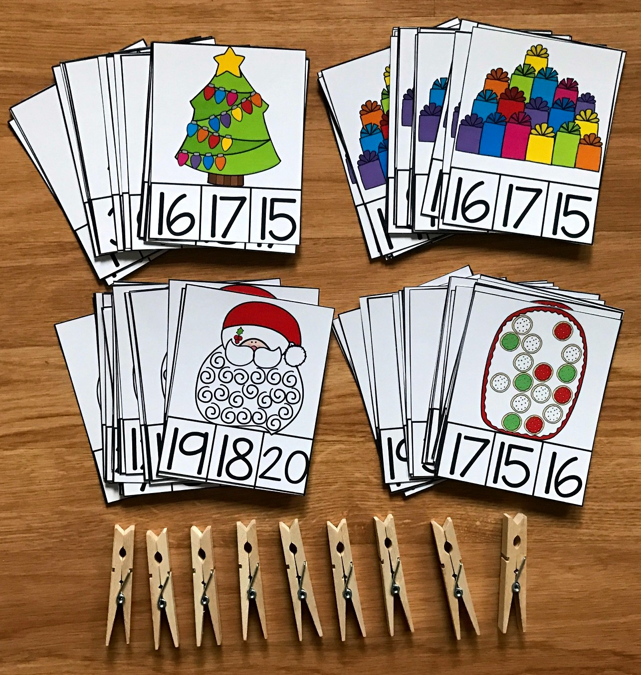 "Christmas Task Cards: ""Counting Christmas"""