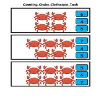Counting Crabs Clothespin Task