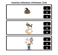 Counting Halloween Clothespin Task