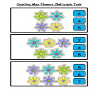 Counting May Flowers Clothespin Task