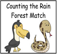 Counting the Rain Forest Match File Folder Game