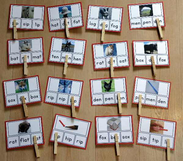 CVC Words Task Cards (w/Real Photos)