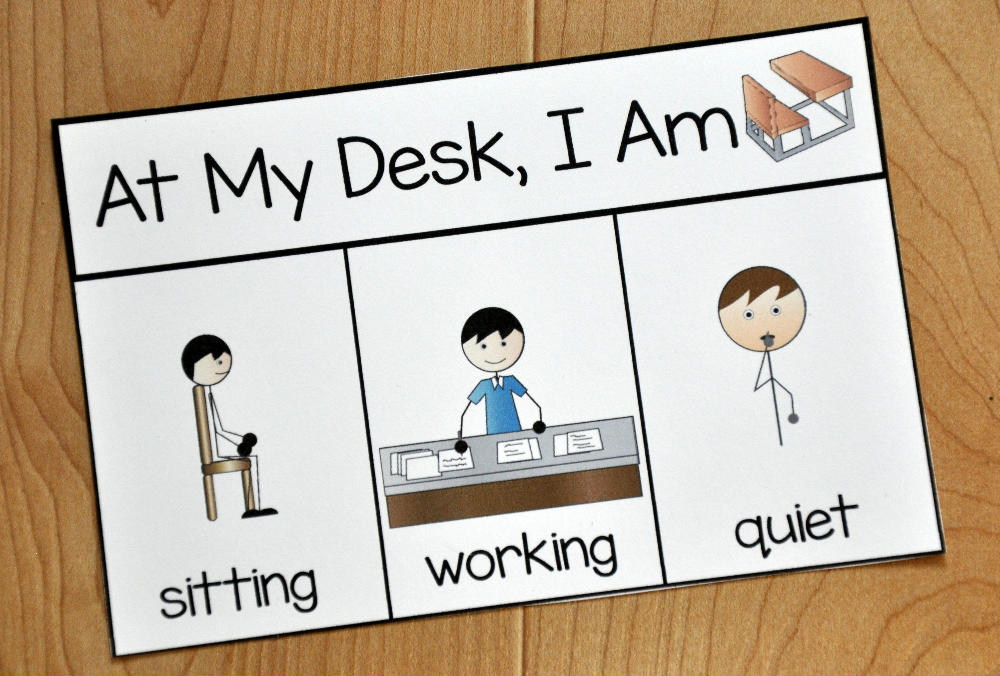 Desk Behavior Card