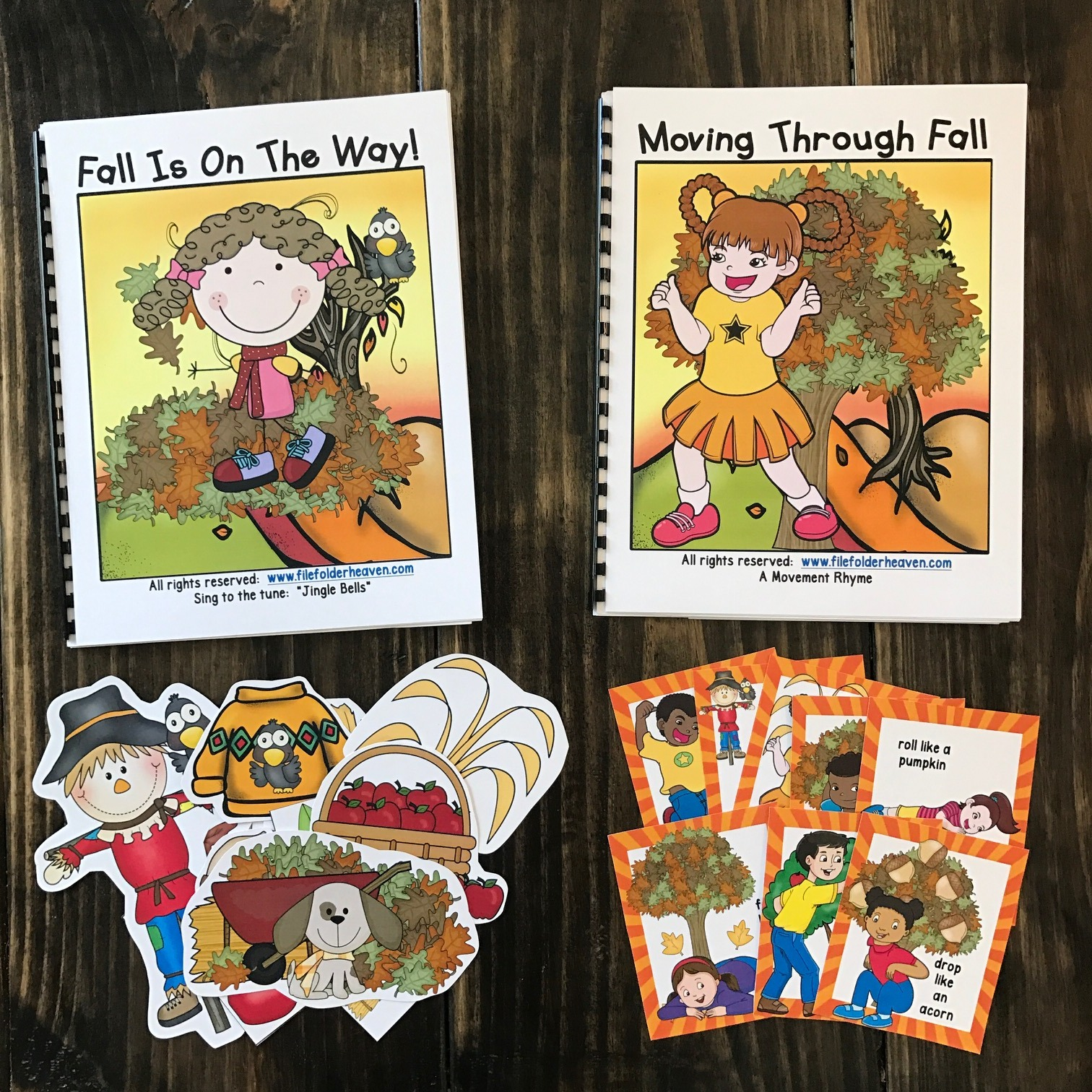 "Fall Adapted Song Book--""Fall Is On The Way!"""