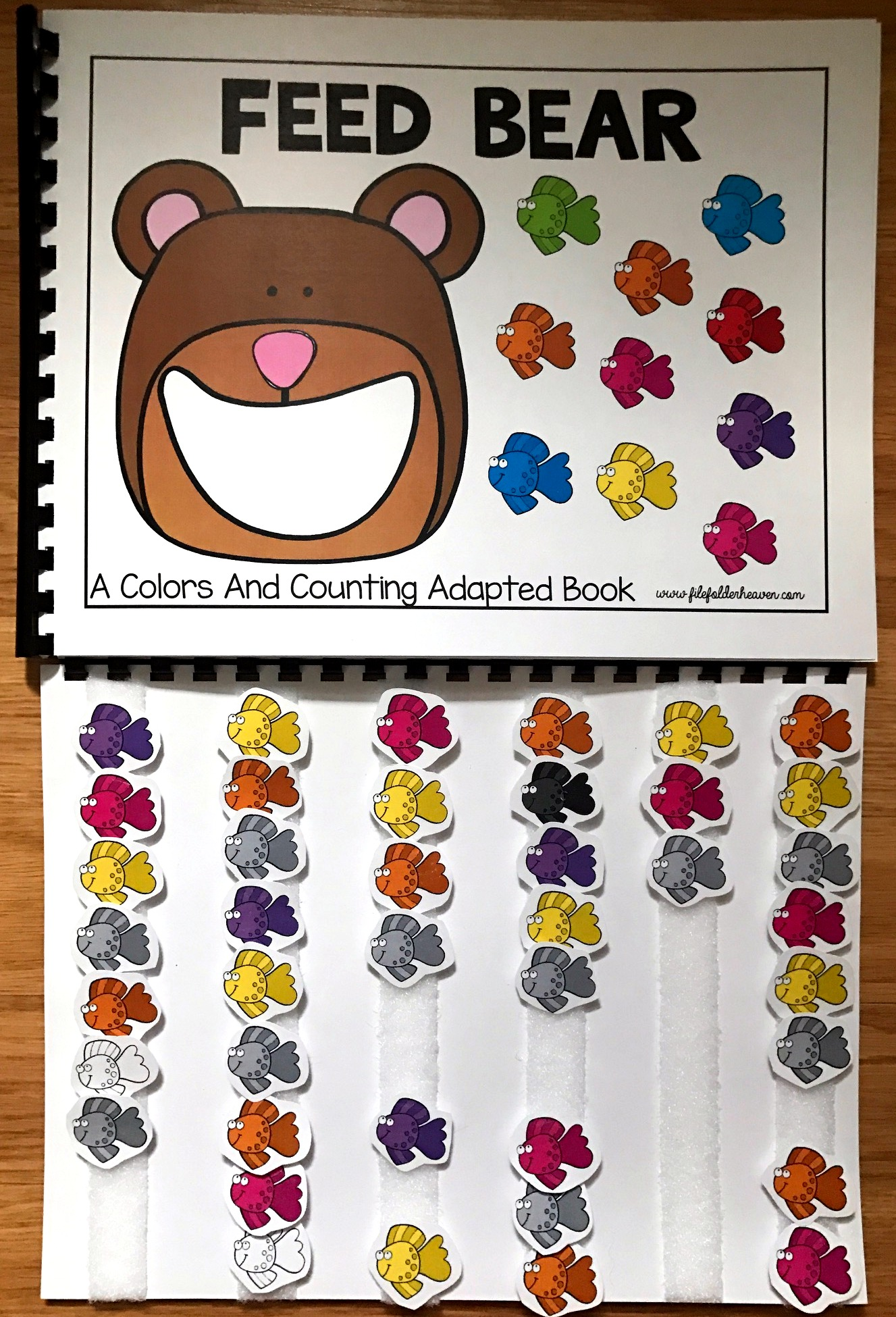 Feed Bear: A Colors and Counting Adapted Book