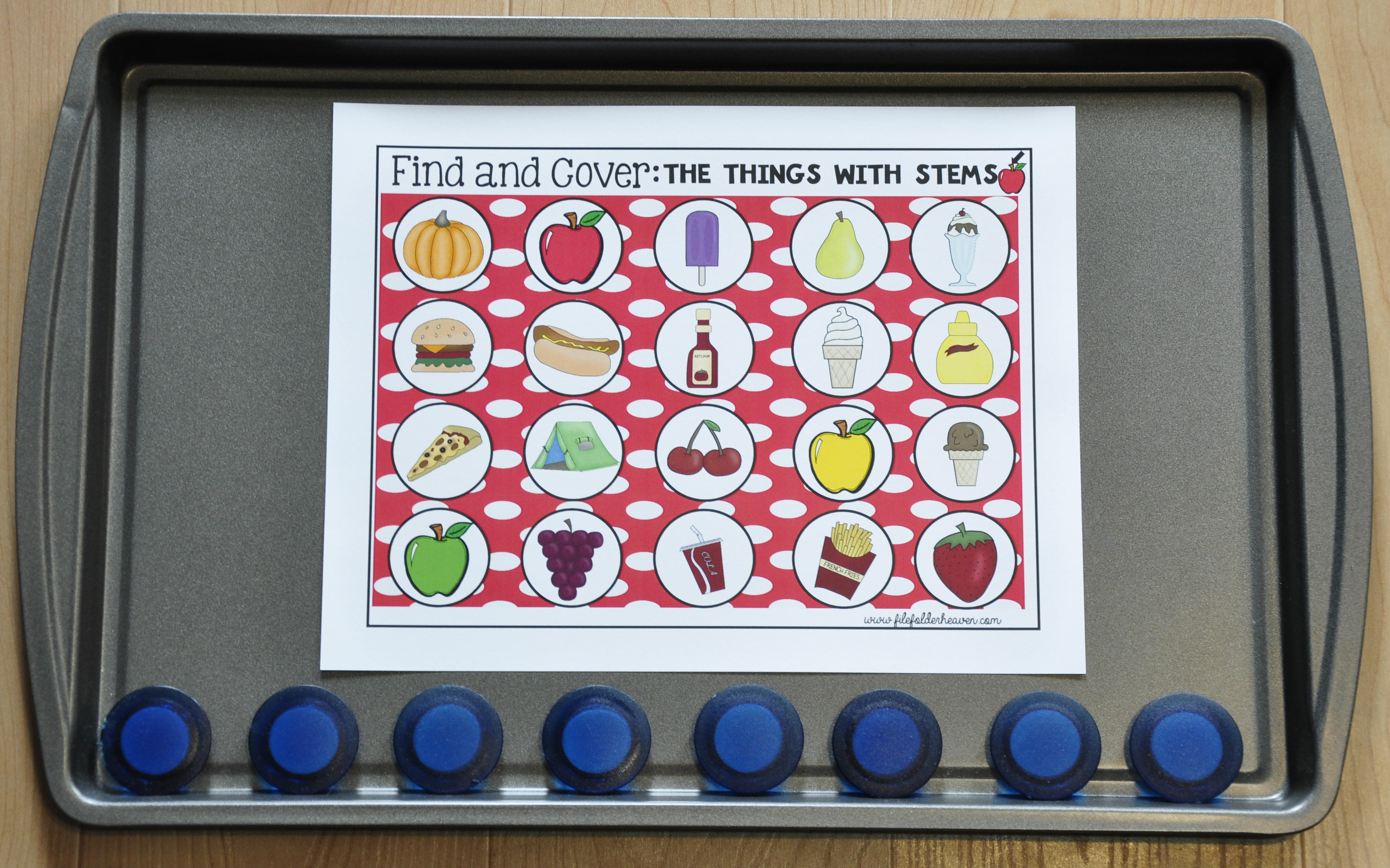 Apples Themed Find and Cover Activities