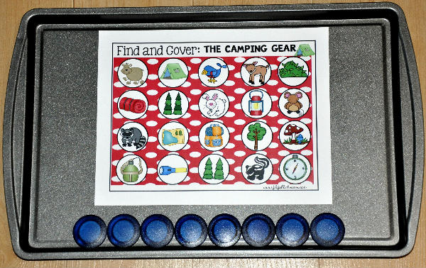 Camping Themed Find and Cover Cookie Sheet Activities Bundle
