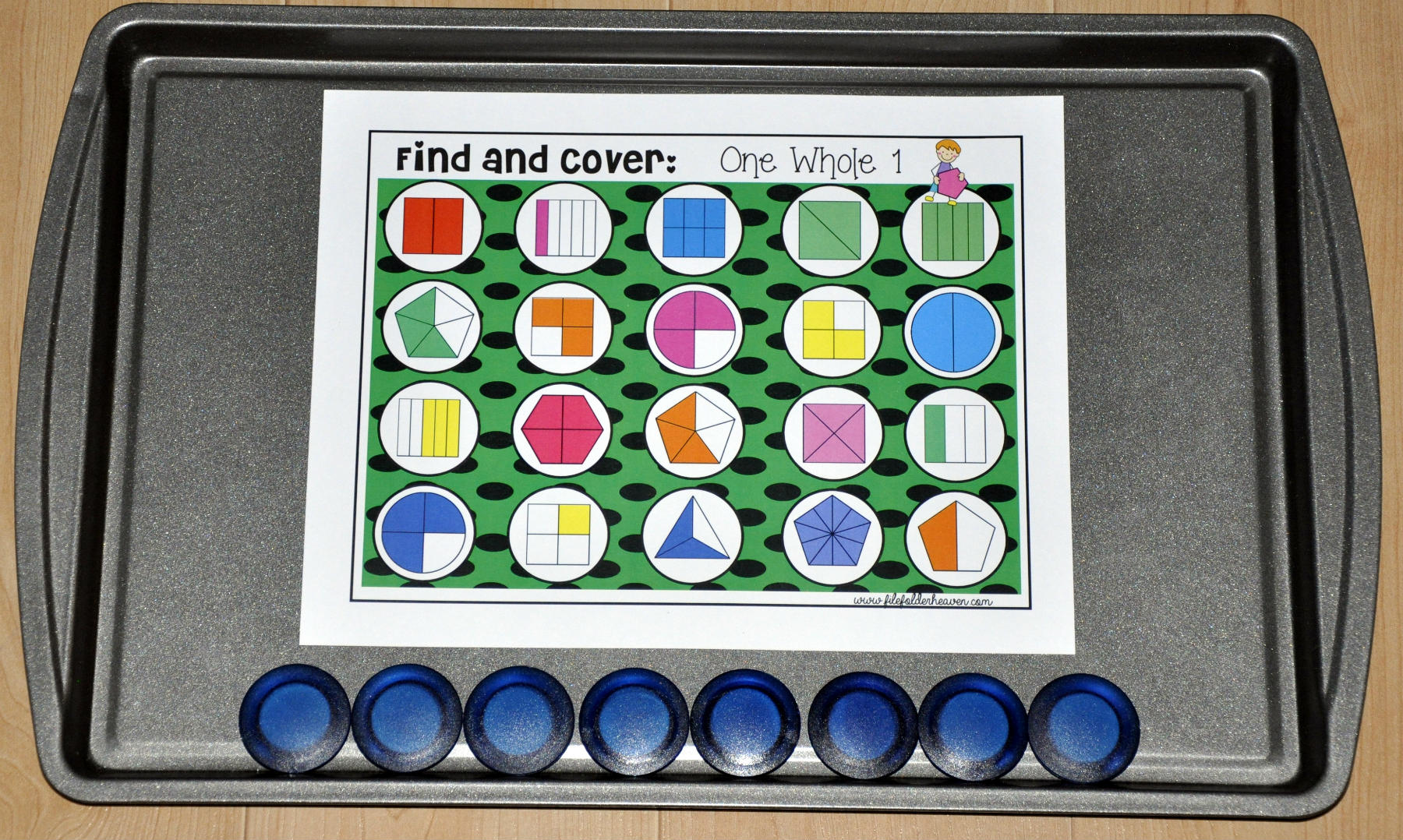 "Fractions: ""Find and Cover"" Activities"