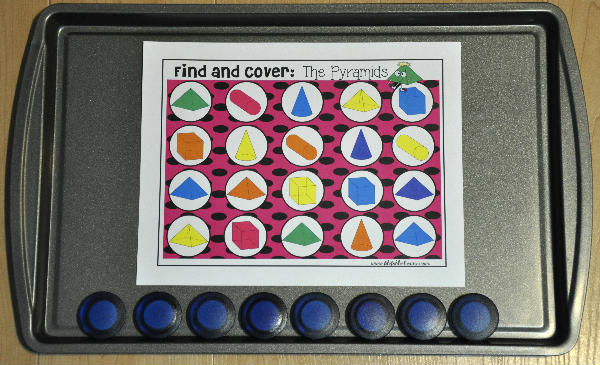 "Identifying 3D Shapes ""Find and Cover"" Cookie Sheet Bundle"