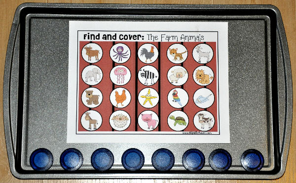 "Farm Themed ""Find and Cover"" Cookie Sheet Activities Bundle"