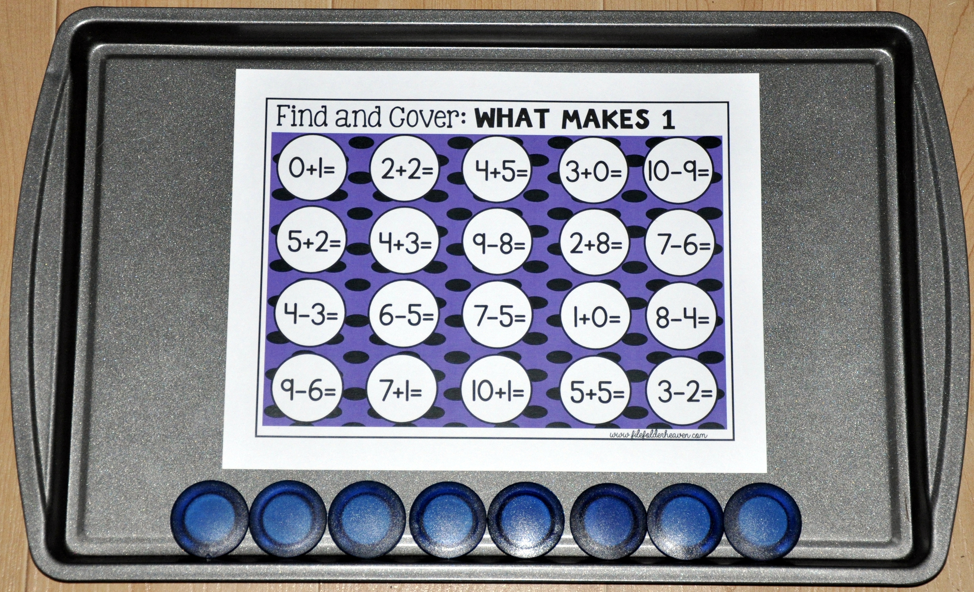 Basic Math Facts: Find and Cover Activities
