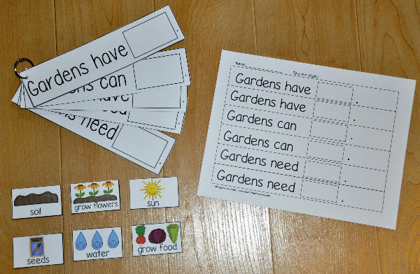 """Gardens Have, Gardens Can, Gardens Need"" Flipstrips"