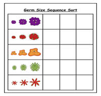 Germs Sizes Sequence Cookie Sheet Activity 1 00 File
