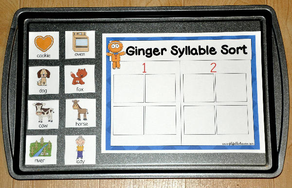 photo relating to Syllable Games Printable identify The Gingerbread Gentleman Tale Syllable Style Cookie Sheet