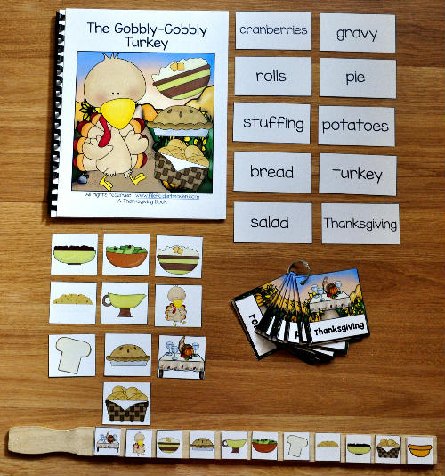 The Gobbly Gobbly Turkey Adapted Book and Vocabulary Activities