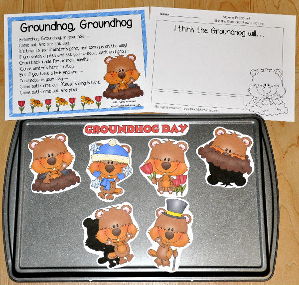 Groundhog Day Cookie Sheet Story and Writing Activity