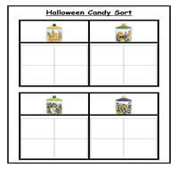 Halloween Candy Sorting Task