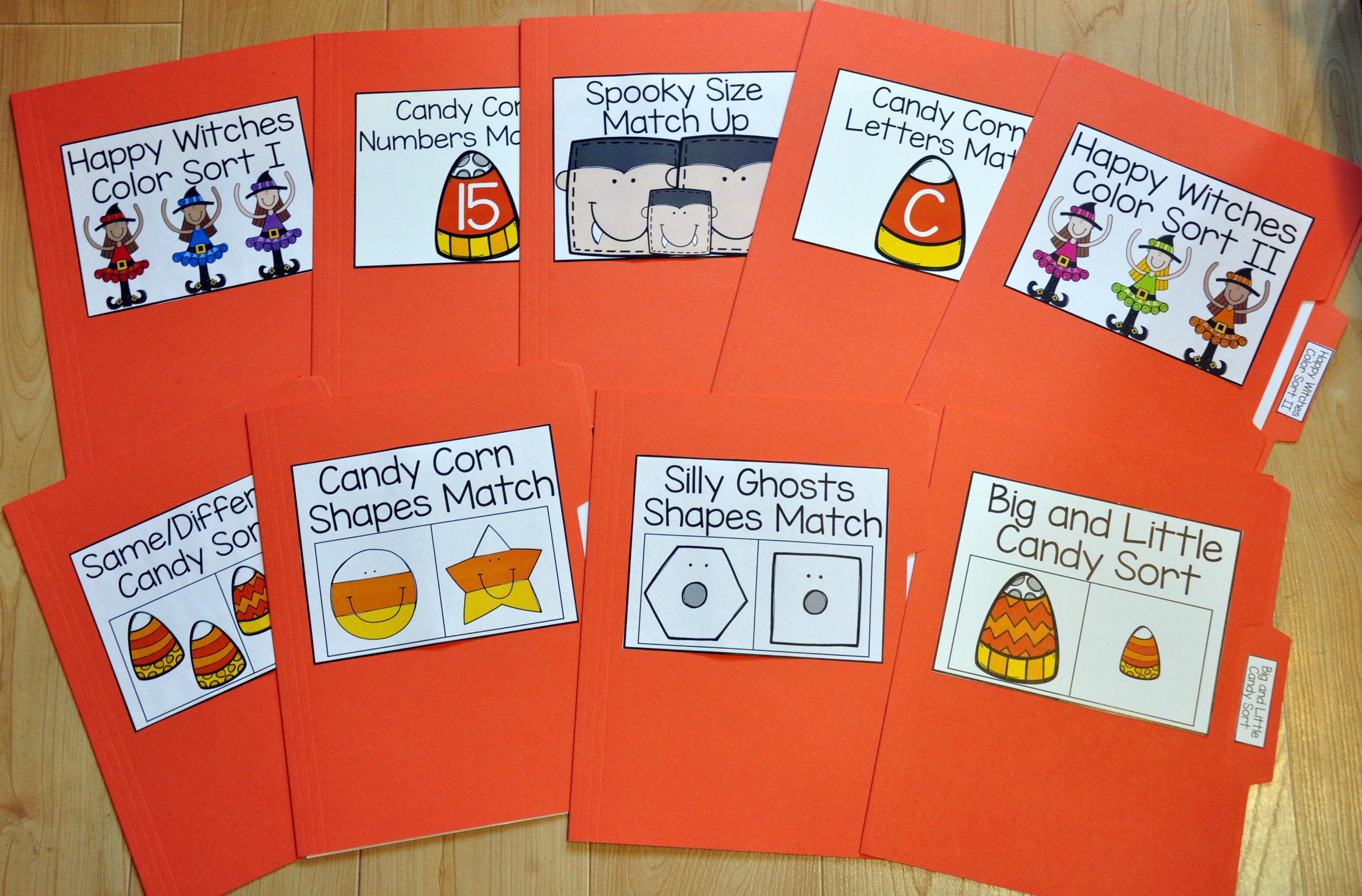 halloween file folder games mini bundle - Halloween File Folder Games