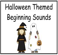 halloween beginning sounds file folder game - Halloween File Folder Games