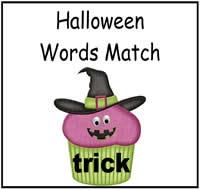 halloween words match file folder game - Halloween File Folder Games
