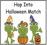 hop into halloween match file folder game - Halloween File Folder Games