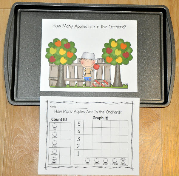 """How Many Apples Are In the Orchard?"" Intro to Graphing Activity"