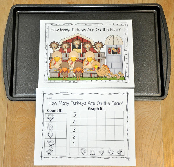 """How Many Turkeys are on the Farm?"" Intro to Graphing Activity"