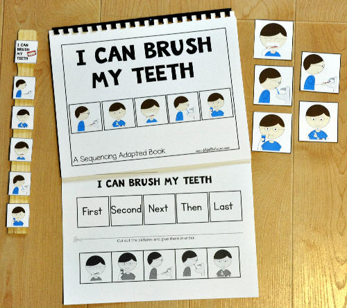 "Sequencing Adapted Book: ""I Can Brush My Teeth"""