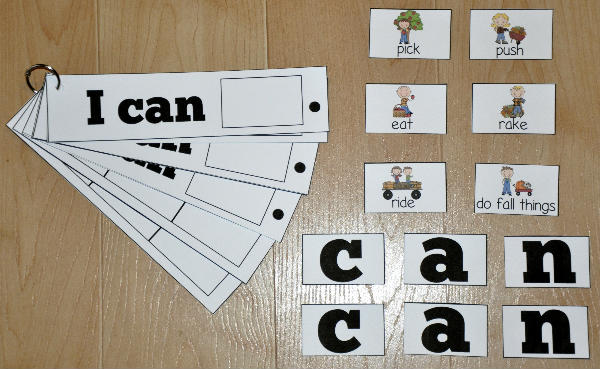 """I Can Do Fall Things"" Sight Word Flipstrips"