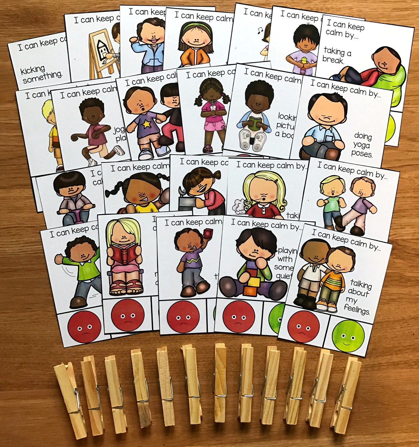 Behavior Task Cards Set 2 (Calming Strategies)