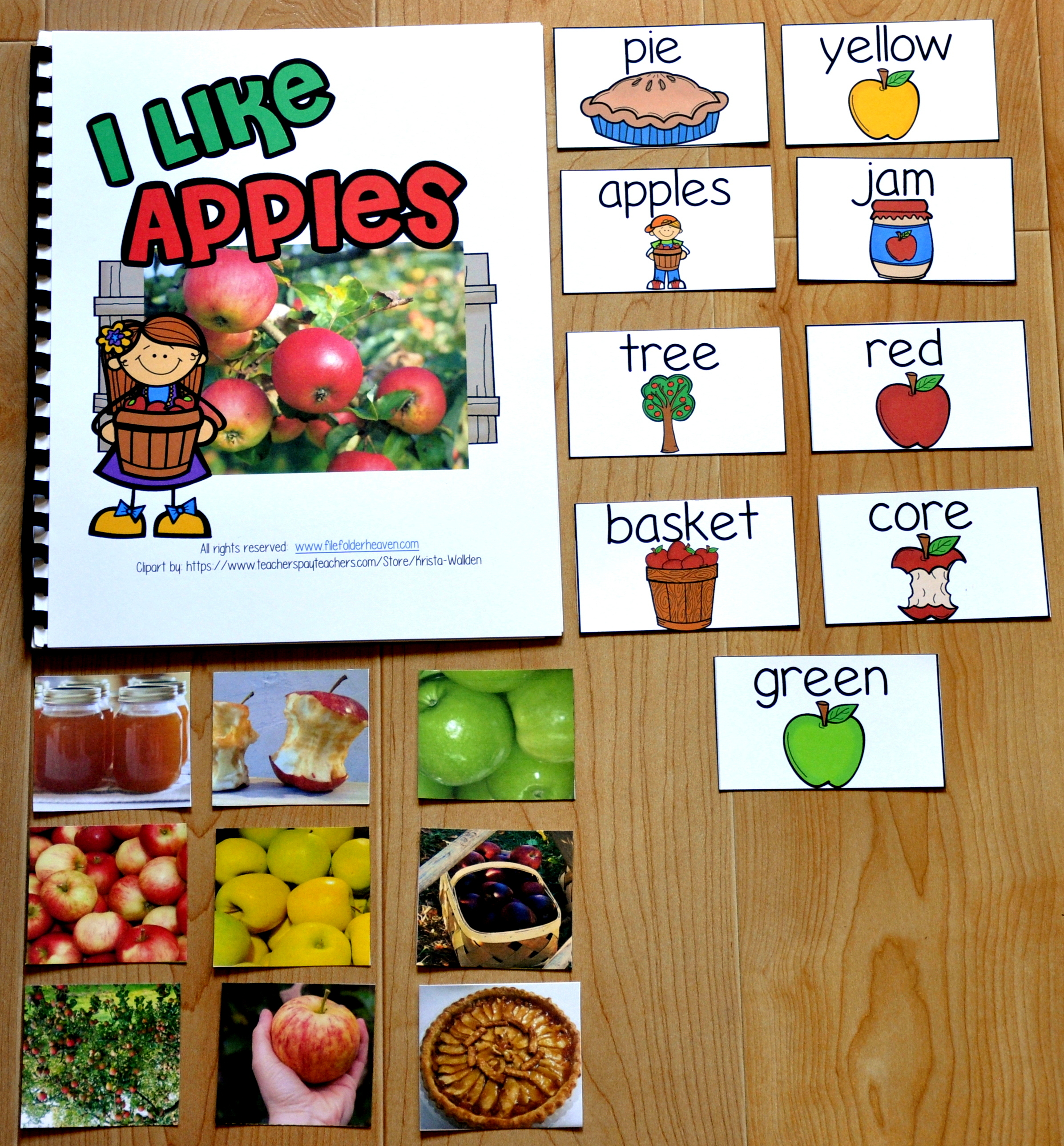 I Like Apples Adapted Book (w/Real Photos)