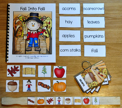 Fall Into Fall Adapted Book and Vocabulary Activities