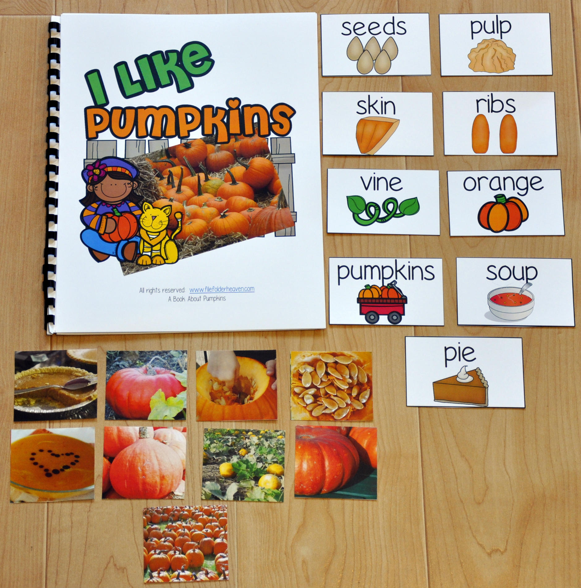 I Like Pumpkins Adapted Book (w/Real Photos)