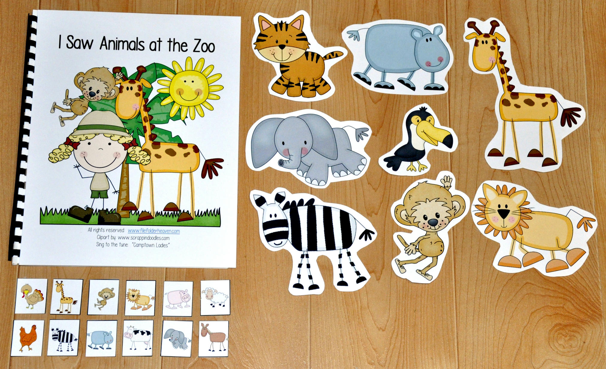 """I Saw Animals At the Zoo"" Adapted Song Book"